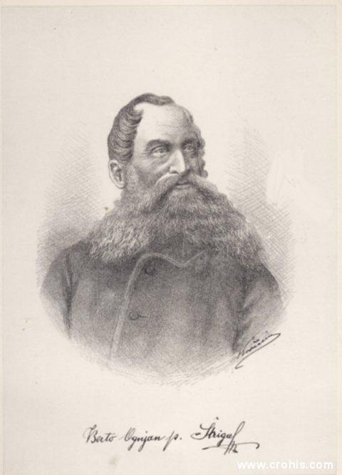 Alberto Ognjen Štriga (1821. – 1897.), glazbenik i preporoditelj.