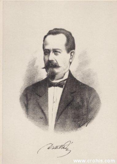 Dinko Vitezić (1822. – 1904.), istaknuti preporoditelj Hrvata u Istri.