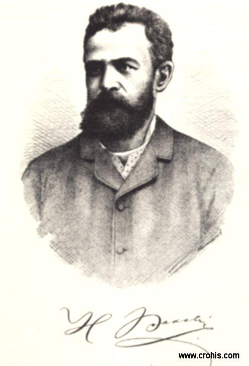 Hugo Badalić (1851. – 1900.), književnik. Najpoznatiji po libretu za Zajčevu operu Nikola Šubić Zrinski.