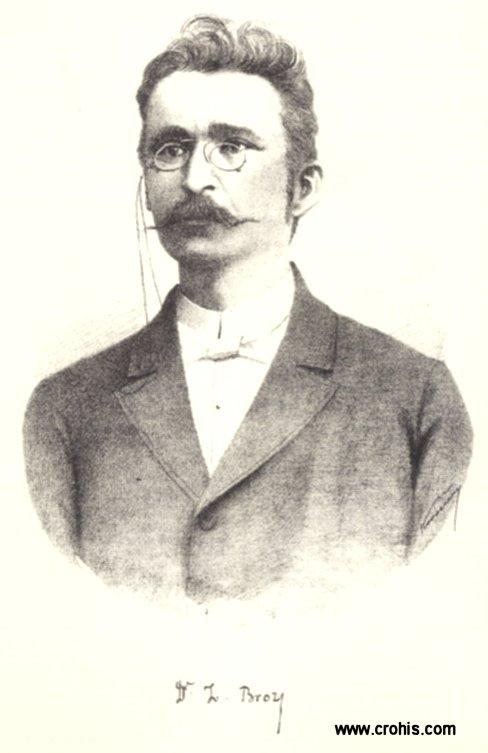 Ivan Broz (1852. – 1893.), istaknuti filolog i autor prvog hrvatskog fonetskog pravopisa.