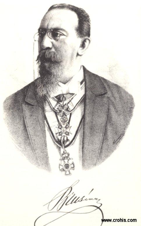 Spiridon Brusina (1845. – 1908.), zoolog, postavio temelje razvoju biologije u Hrvatskoj.