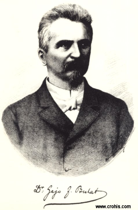 Gajo Bulat (1836. – 1900.), istaknuti preporoditelj Hrvata u Dalmaciji. Prvi narodnjački gradonačelnik Splita.