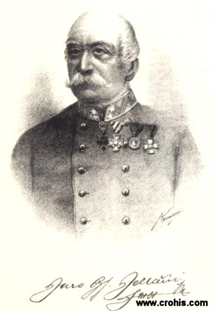 Đuro Jelačić (1805. - 1901.), potkapetan kraljevine Hrvatske.