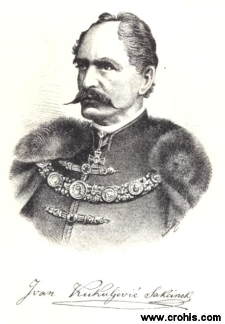 Ivan Kukuljević Sakcinski (1816. – 1889.), preporoditelj, političar i književnik. Utemeljitelj moderne hrvatske povijesne znanosti.