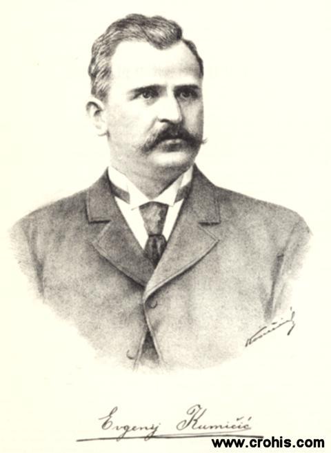 Eugen Kumičić (1850 – 1904.), književnik i političar. Autor popularnih povijesnih romana.