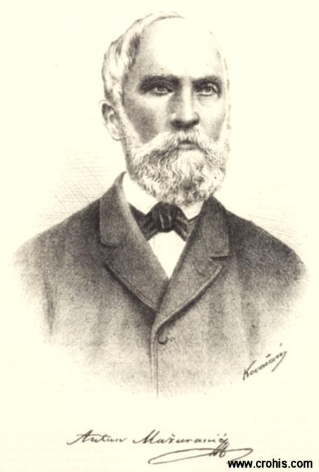 Antun Mažuranić (1805. – 1888.), istaknuti književnik i jezikoslovac preporodnog razdoblja.