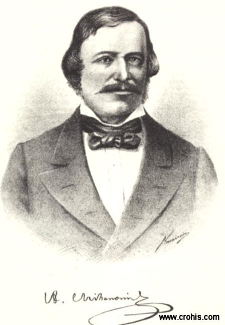 """Antun Mihanović (1796. – 1861.), književnik, preporoditelj i diplomat. Autor pjesme """"Horvatska domovina"""" koja je postala hrvatskom himnom."""