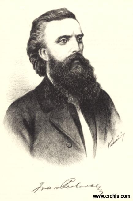 """Ivan Perkovac (1826. – 1871.) publicist. Urednik """"Pozora"""" i """"Vienca"""". Zastupnik u hrvatskom saboru."""