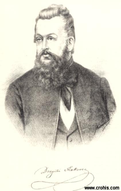 """Dragutin Rakovac (1813. – 1854.), književnik i preporoditelj. Urednik """"Danice"""" i """"Ilirskih novina""""."""