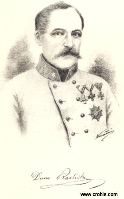 Dane Rastić (1794. – 1853.) podmaršal. Istaknuo se u borbama protiv Mađara za revolucije 1848./49. Blizak suradnik bana Jelačića.