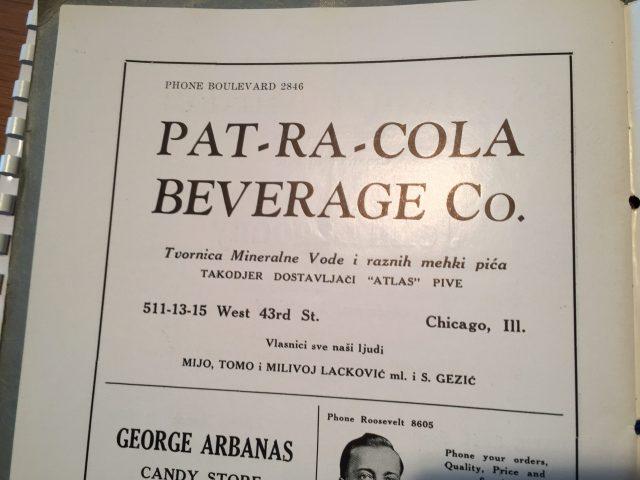 """Oglas za """"Pat - Ra - Colu"""""""