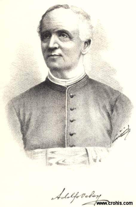 """Adolfo Veber (1825. – 1889.), lingvist i književnik. Najistaknutiji predstavnik """"zagrebačke lingvističke škole"""". Jedna od utemeljitelja hrvatske novelistike."""