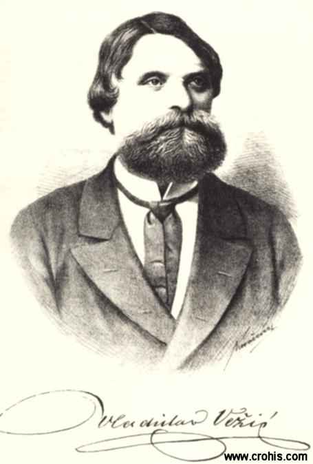 Vladislav Vežić (1825. – 1894.) odvjetnik i pjesnik. Pisao pod jakim utjecajem Andrije Kačića Miošića.