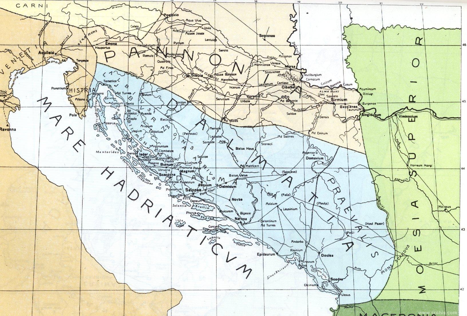 Karta dalmacija Dalmacija Karta