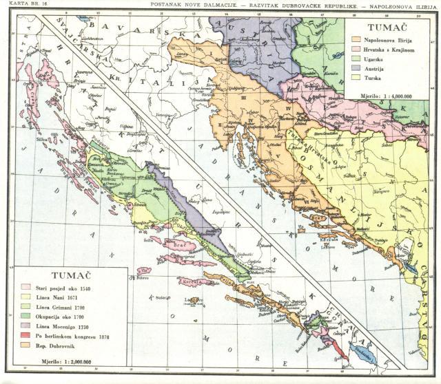 Postanak nove Dalmacije, Razvitak dubrovačke republike, Napoleonova Ilirija