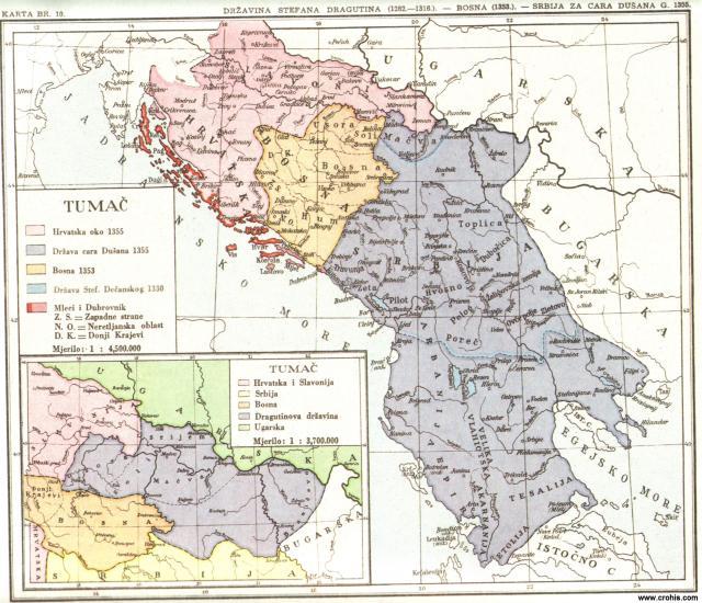 Država Stefana Dragutina (1282. - 1316.), Bosna 1353., Srbija za cara Dušana 1355.