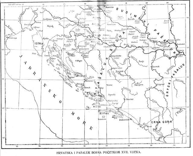 Hrvatska i pašaluk Bosna početkom 17. vijeka