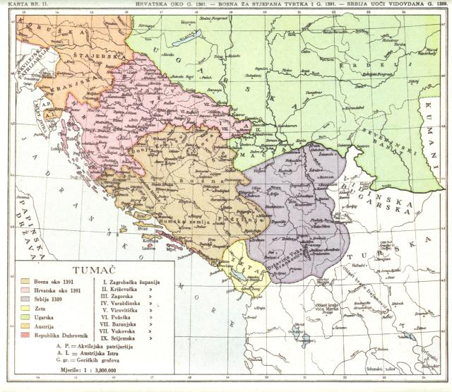Hrvatska oko 1391, Bosna za Stjepana Tvrtka I., Srbija uoči Vidovdana 1391.