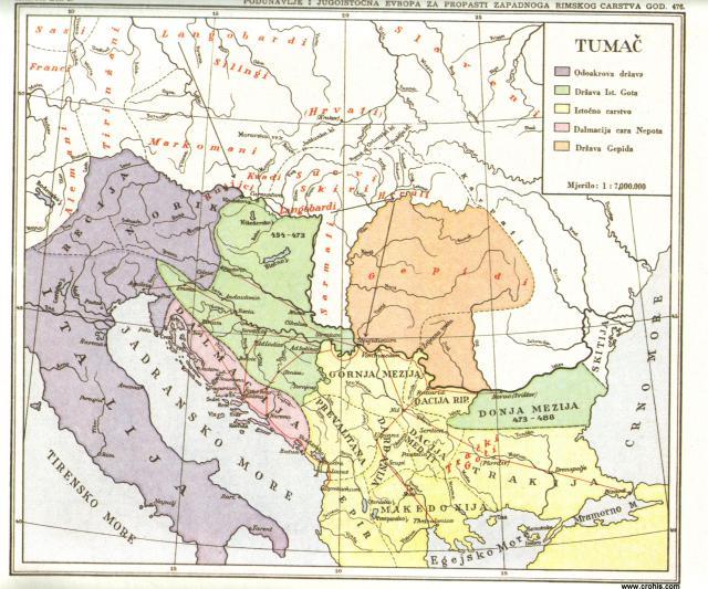 Podunavlje i jugoistočna Evropa za propasti Zapadnog rimskog carstva 476.