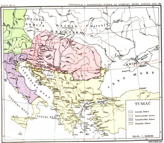 Podunavlje i jugoistočna Evropa na svršetku seobe naroda god. 568.