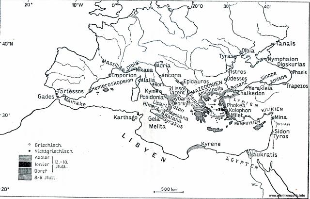 Karta grčke kolonizacije