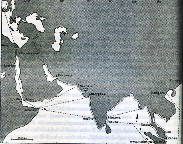 Pomorski trgovački putovi između Rima i Kine oko 100. godine
