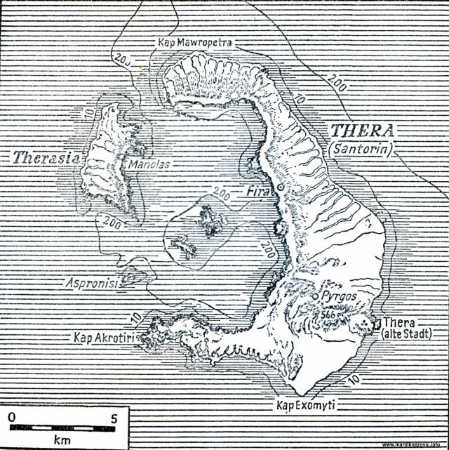 Otok Tera sa Santorinom.