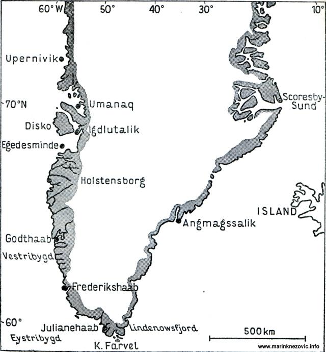 Greonland s Eystribyggdom i Vestrybyggdom.