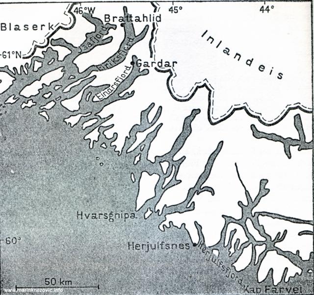 Istočna naselja Skandinavaca na Groenlandu.