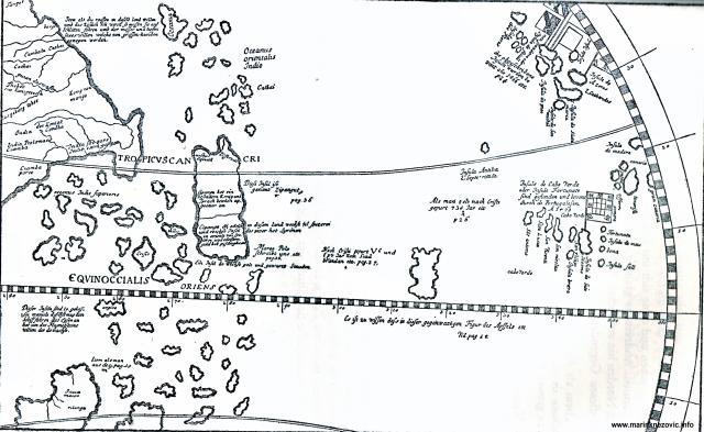 """""""Atlantski otoci"""" prema globusu Martina Beheima iz 1493."""