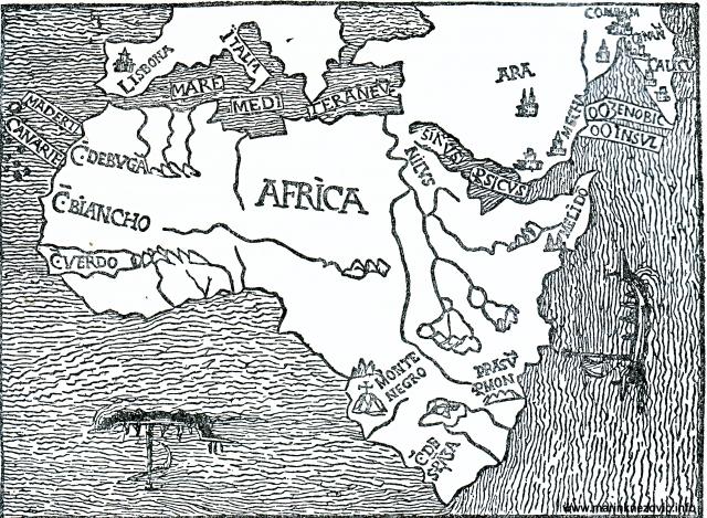 Portugalska karta Afrike s početka 16. st.