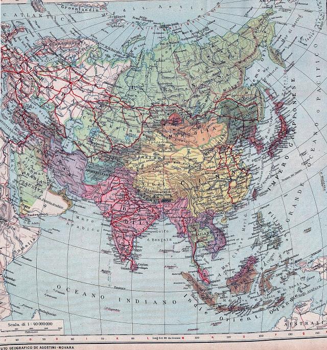 Azija - politička karta