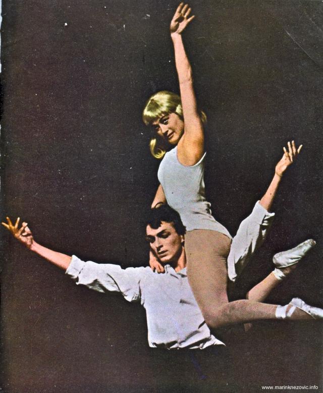 Baletni umjetnici Đurđica Ludvig i Stane Leber