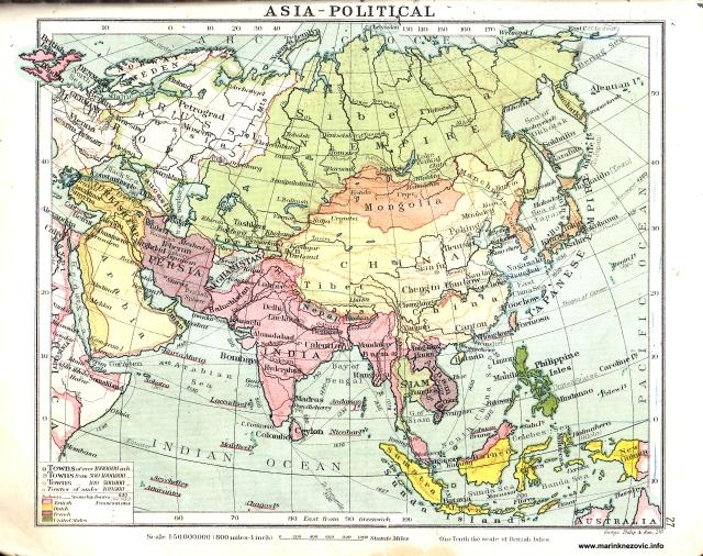Politička karta Azije /Asia - political