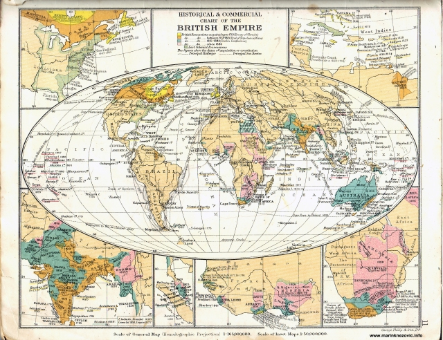 Britanski imperija/ Historical & Commercial Chart of The British Empire