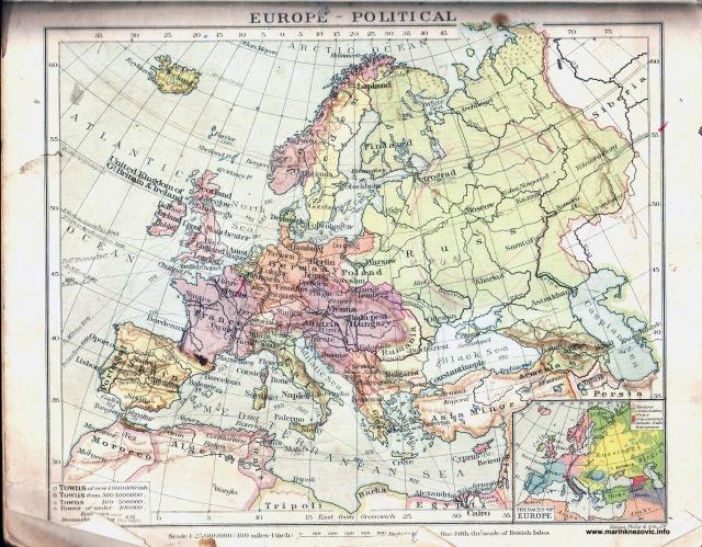 Politička karta Europe / Europe political