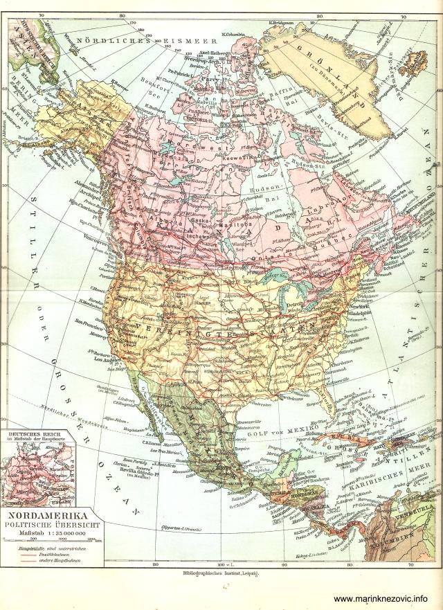 Sjeverna Amerika - politički pregled / Nordamerika - politische Übersicht