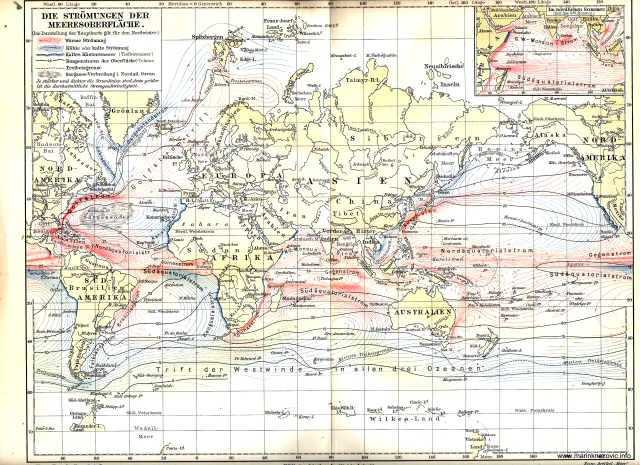 Morske struje / Der _Strömungen der Meersoberfläche