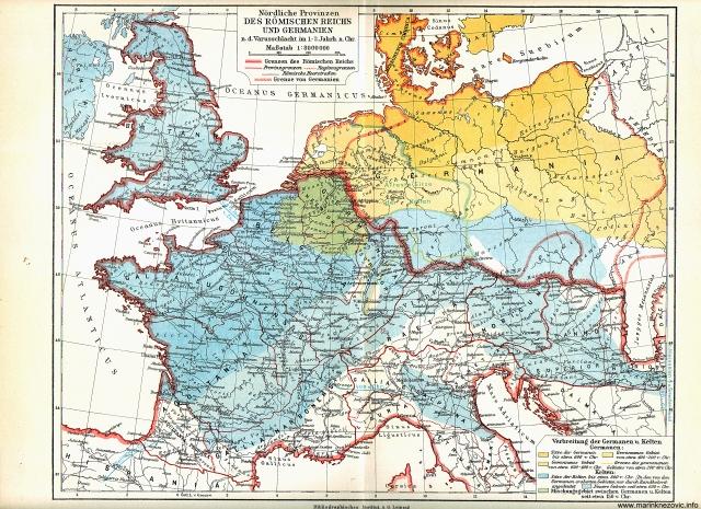 Nördliche Provinzen des Römishen Reiches und Germanien / Sjeverne provincije rinskog carstva i Germanija