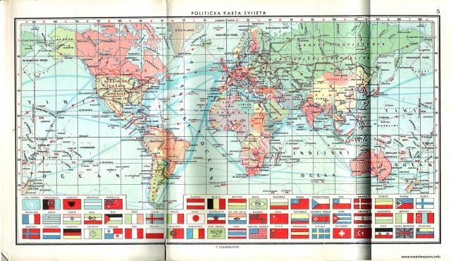 Politička karta svijeta 1962.