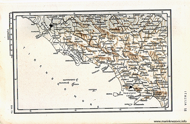 Područje južno od Rima