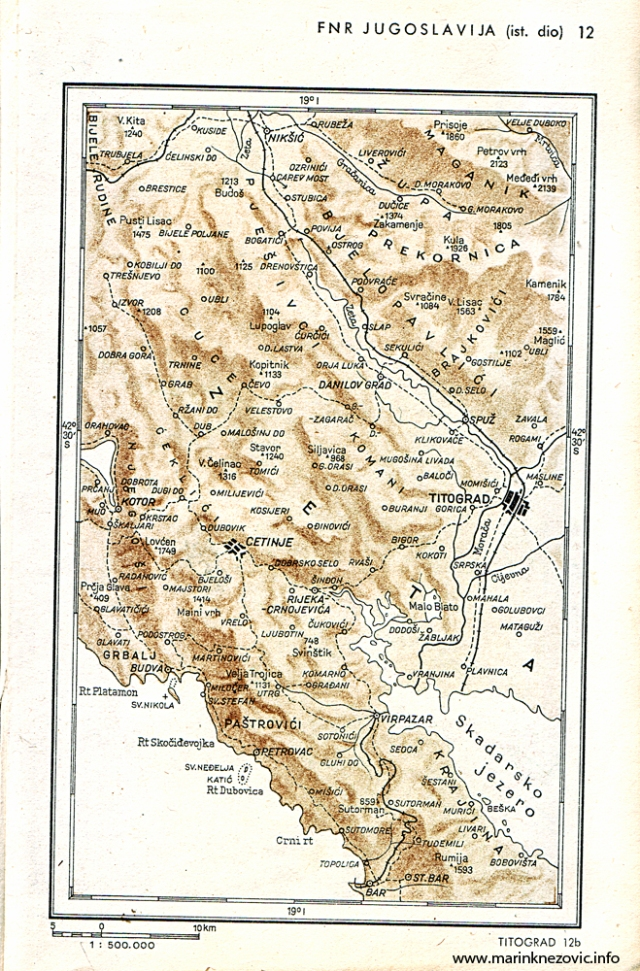 Crna Gora oko Titograda (Podgorice)