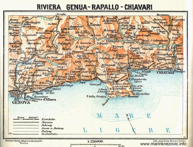 Riviera Genua - Rapallo - Chiavari /Rivijera Genova, Rapallo, Chiavari