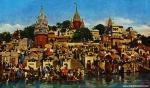 Sveti grad Benares na Gangesu / Benares am Ganges, die heilige Stadt der Hindu.