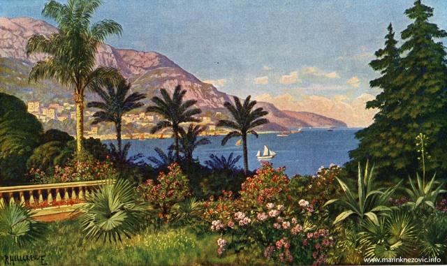 Pogled iz vrtova Monte Carla / Bild aus dem Kurgarten von Monte Carlo
