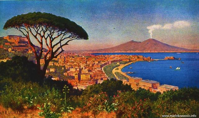 Napuljski zaljev s Vezuvom / Der Golf von Neapel mit dem Vesuv