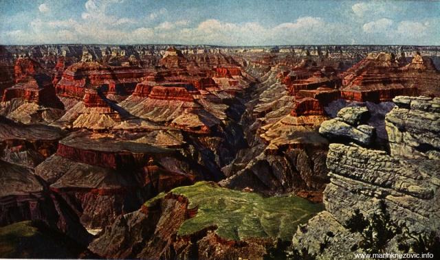 Kanjon rijeke Kolorado u Arizoni iz pravca O'Meill's Pointa / Canon des Colorado Flusses in Arizona, von O'Meill's Point aus gesehen.