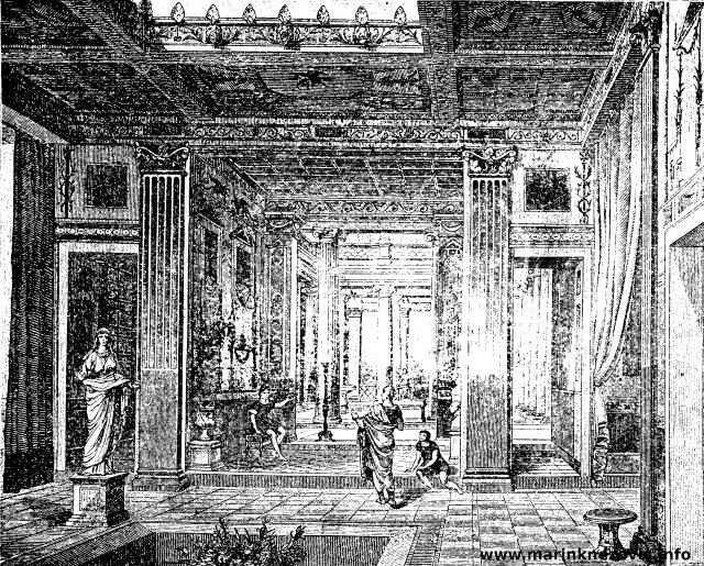 Rekonstrukcija unutrašnjosti rimske kuće