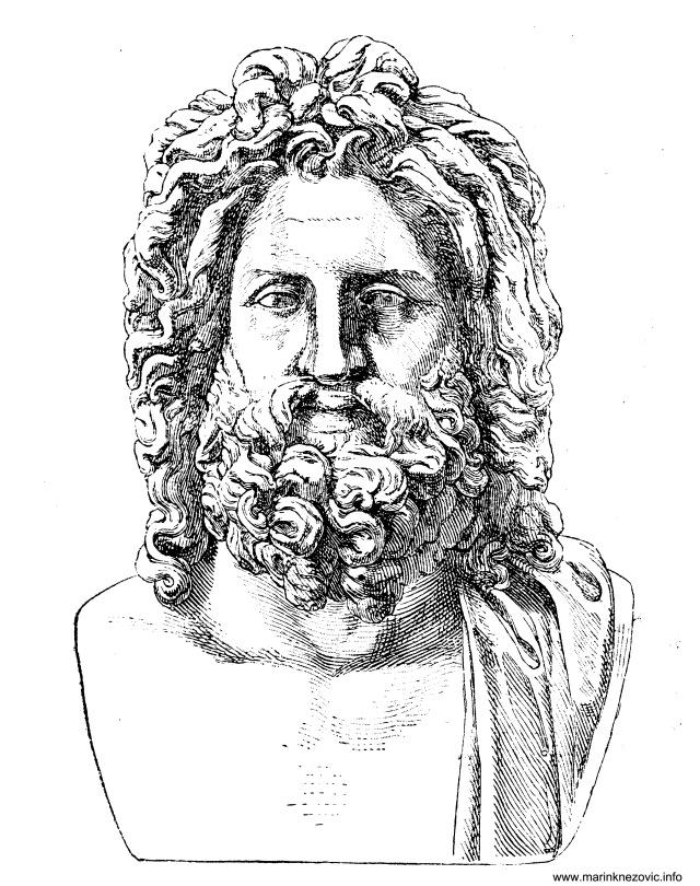 Glava boga Zeusa