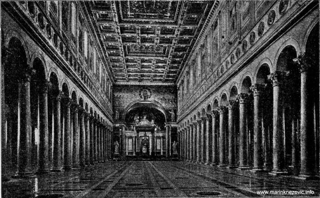 Unutrašnjost bazilike Sv. Pavla u Rimu